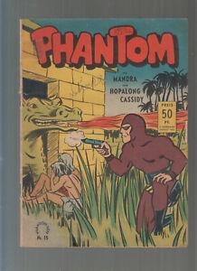 Phantom Aller Verlag Nr. 15  2 Jg. Original 1953 Phantom,Mandra,Hopalong Cassidy