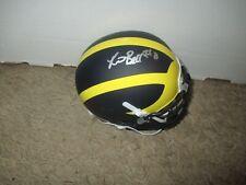 Michigan Wolverines RONNIE BELL signed Matte Mini Helmet