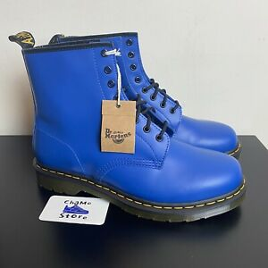 Dr. Martens 1460 Smooth Leather Boots Blue Mens Size 12