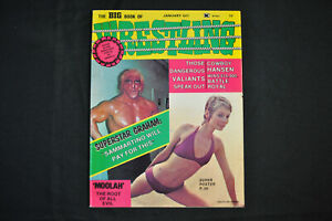 THE BIG BOOK OF WRESTLING - JANUARY 1977 - JANET VICKERS SWIMSUIT COVER! (F-VF)