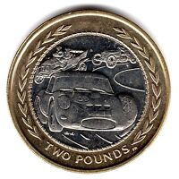 1998 VINTAGE CAR RALLY IOM £2 COIN RARE TWO POUND FIFTY ISLE OF MAN b