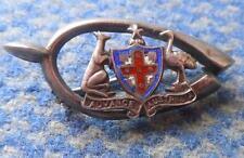 Wwi 1915 Coat Of Arms Shield Australia Advance Very Rare Silver 800 Pin Badge