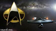 Star Trek Next Generation Gold & Sliver Metal Communicator Pin