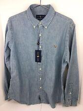 POLO RALPH LAUREN Slim Fit Long Sleeve Shirt 100% Cotton Denim Chambray 2XL NWT