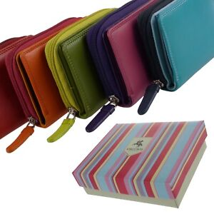 Ladies Compact Leather Purse/Wallet by Visconti Gift Boxed