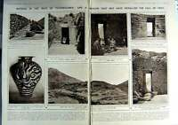 Old Vintage Print 1923 Mycenae Mount Hagios Tomb Aegisthus Excavations 20th