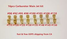 16pcs Carburetor Main Jet kit for PWK Keihin OKO CVK 90 92 95 98 100 105……150 US