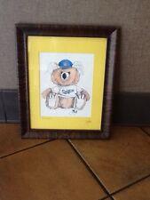"""LA Dodgers Artist Signed Koala Color Laser Reproduction """"Dodger Blue"""""""