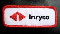 "INRYCO EMBROIDERED SEW ON PATCH STEEL CONSTRUCTION UNIFORM 3 1/2"" x 1 1/2"""