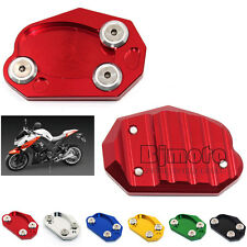 Motorcycle CNC Red Side Stand Enlarge For Kawasaki Z1000SX ZX10R ER6N ZX6R
