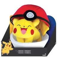 NEW TOMY Pokémon Zipper Poké Ball Plush, Poké Ball And Pikachu
