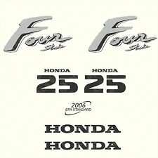 Honda 25 hp Four Stroke outboard engine decal sticker set reproduction old style