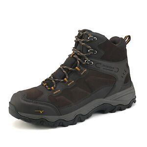 US Men's Mid Outdoor Waterproof Winter Ankle Hiking Snow Boots Backpacking Shoes