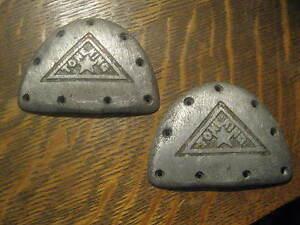 "Tone King Vintage 1950's Tap Shoe Metal Toe Taps 2.5"" X 1.75"" FREE USA Shipping"