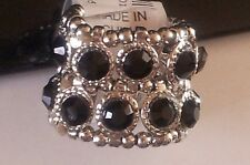 Brand New Avenue Wide Stone Silver-Tone Stretch Ring Free Shipping!!!!!!!!!