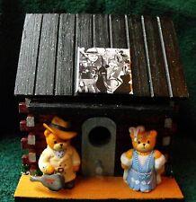 Al Capone Gangster Log Cabin Bird House