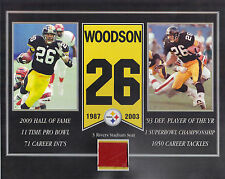 ROD WOODSON PITTSBURGH STEELERS 3 RIVERS STADIUM SEAT 8 X 10 COA