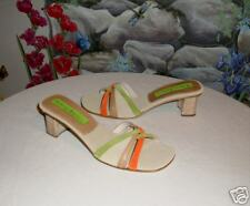 New $225 GOFFREDO FANTINI Leather Suede Sandals 7.5 / 8
