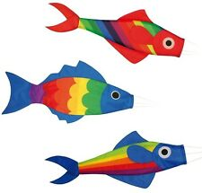 Windsack Fisch 3 Motive zur Auswahl 91cm Windturbine Windsocke Windspiel Fahne