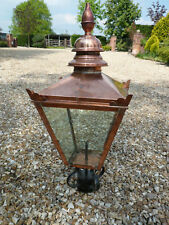 Large Copper Top Victorian Style Lantern (for lamp post or bracket)