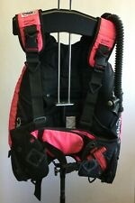 New listing Zeagle Bcd with 2 tank bands Size M Scuba Diving Dive Black & Pink - Pictured