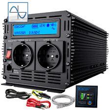 Inversor Onda Pura 2500W 5000W 12V 220V Convertidor Transformador LCD  Model2019