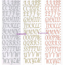 Craft CLEAROUT Set of 2 Eleganza Adhesive Stickers Stylised Numbers & Letters