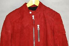 SUPER BEAUTIFUL!!! PREACH RAW LEATHER MEN RED BIKER RIDING MOTO JACKET SIZE M