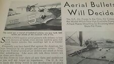 JUNE 1931 MAGAZINE PAGE #SI27- AERIAL BULLETS WILL DECIDE- BROWNING MACHINE GUNS
