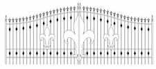 Ornamental Iron Driveway Entry Gate 16 Ft Wd Dual Swing. Handrails, Residential