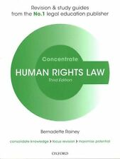 Human Rights Law Concentrate: Law Revision and Study Guide by Bernadette Rainey (Paperback, 2015)