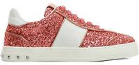 Valentino Garavani scarpe sneakers ROCKSTUD donna PW2S0E19PEJ 0JT rosa glitter