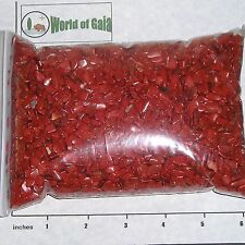 RED JASPER 5-11mm tumbled 2 lb bulk Xmini+ stones brick red So Africa Save 20%