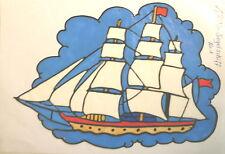 Window Color Fensterbilder Segelschiff Nr.1 Maritimes