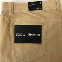 New Style & Co. Corduroy Stretch Straight Leg Womens 5-Pocket Pants Size 18