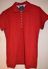 Tommy Hilfiger Smart Slim Fit Red Pique Polo Neck Shirt Sizes: S & L