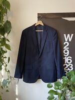 J.Crew Men's Ludlow Suit Jacket Blazer in Navy Italian Wool Flannel 38R