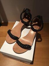 Chloe open Woven Leather heels ..Rrp €495 ..Amazing Shoes