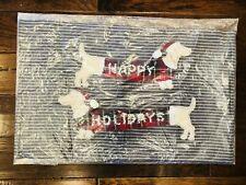 Pottery Barn Christmas Doxie Dog Lumbar Pillow Cover Plaid Lynbrook New Decor