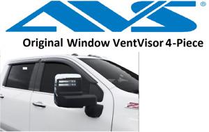 Fits Chevy Silverado Crew 2019 AVS In Channel Window Visors Rain Guards