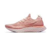 Nike EPIC REACT FLYKNIT Womens Rust Pink Trainers Gym Running
