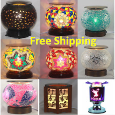Electric Oil Warmer Wax Tart Burner fragrance lamp  WoodBase & Touch Lamp