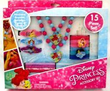 Ariel + Princesses Accessory Set Necklace,Bracelet,Barrettes,Ponies,and Elastics