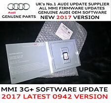 Audi A4 A5 Q5 Q7  MMI 3G+ Plus Genuine USA 2017 Firmware Update 0942 SD Card