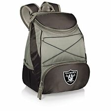 Picnic Time 633-00-175-234-2 Oakland Raiders - PTX Backpack Cooler- Black