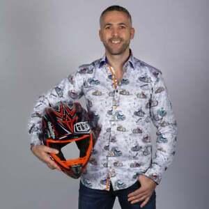 Mens Claudio Lugli Couture London Streets & Motorbikes Shirt CP6648