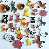 24 x Farm animal foam stickers Scrapbooking kit Early educational  nursery U.K