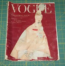 December Vogue 1953 Rare Vintage Vanity Fair Fashion Design Collection Magazine