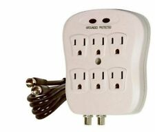 Satco - 6 OUTLET COAX SURGE PROTECTOR - 91-228