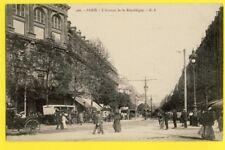 cpa FRANCE 75 - PARIS vers 1900 L'Avenue de la REPUBLIQUE Animés